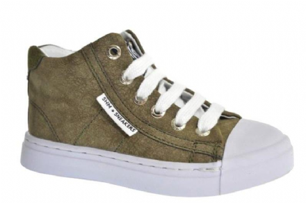 ShoesMe Lace/Zip High Top Trainers (Army green)